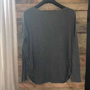 Isabel Maternity by Ingrid & Isabel Tops - Long sleeve grey maternity shirt